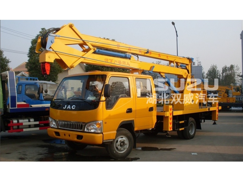aerial working platform Isuzu truck mounted