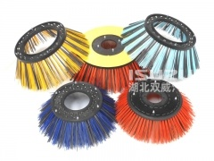 Brushes for sweepers and street sweeping brooms