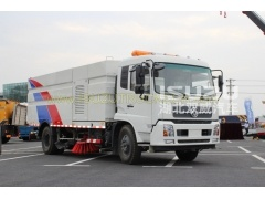 dustbin road sweeper truck Dongfeng street sweeper vehicle