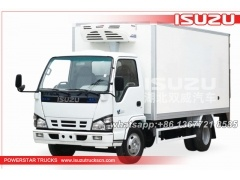 van truck ISUZU mini freezer box truck refrigerator car