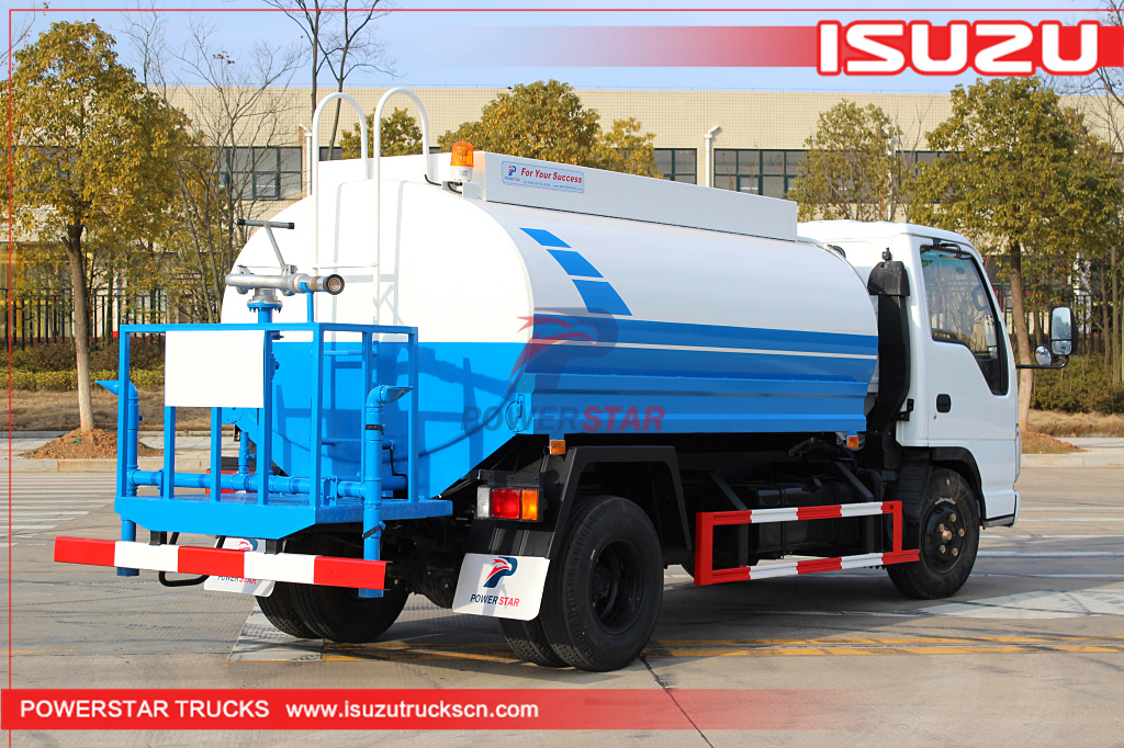 New Designed Isuzu Water Trucks 5 000l Stainless Steel