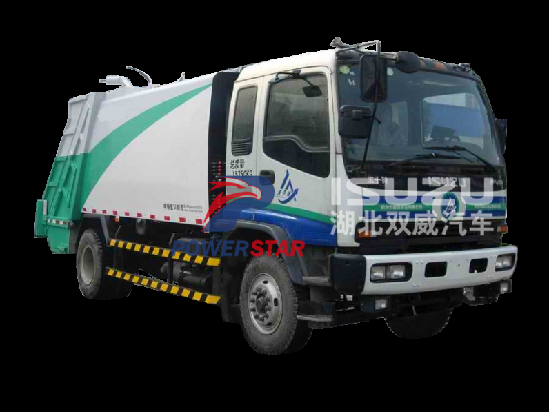 1100L garbage bins Rear loader garbage truck Isuzu