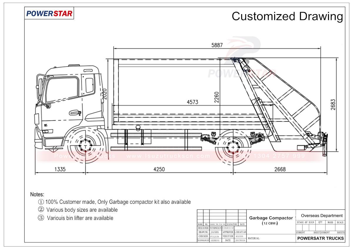 hand truck diagram garbage truck diagram #12