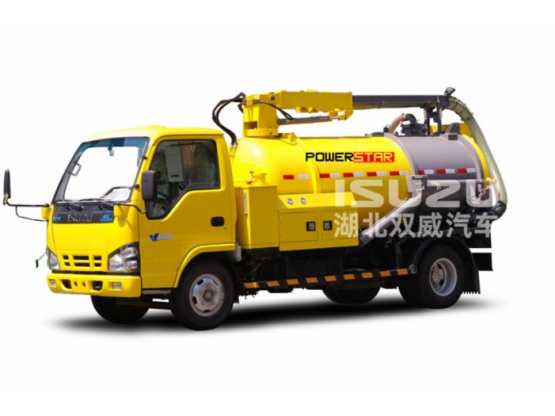 waste water suction truck Isuzu vacuum pump Sewage tanker