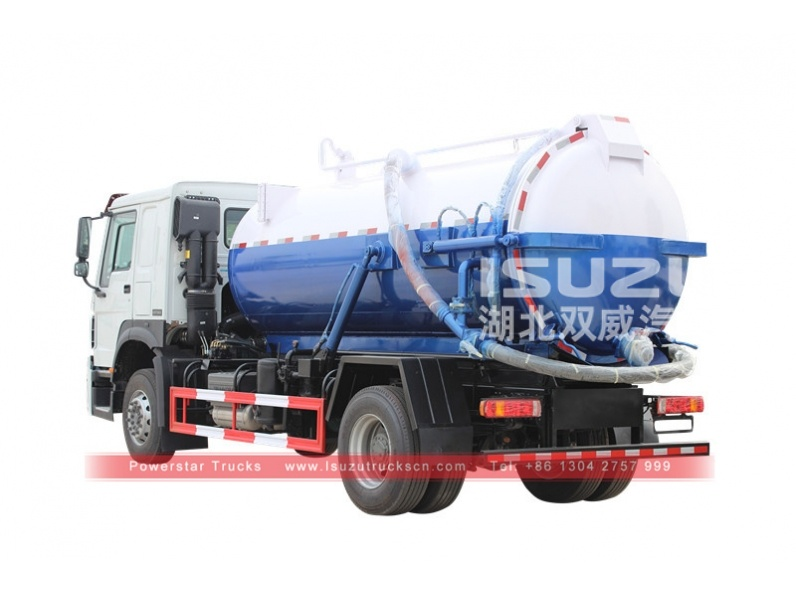 Widely used vacuum sewage truck Isuzu sewage suction tanker with best price