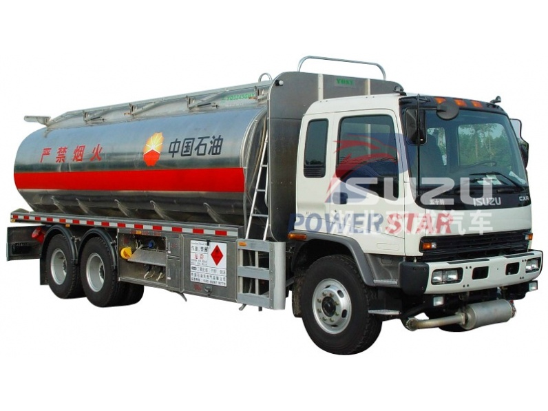 Aluminum Alloy Oil Tank Truck with 6x4 Isuzu Truck Chassis