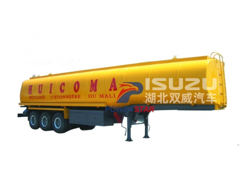 China manufacturer 3 axle fuel transportation tanker trailer for sale