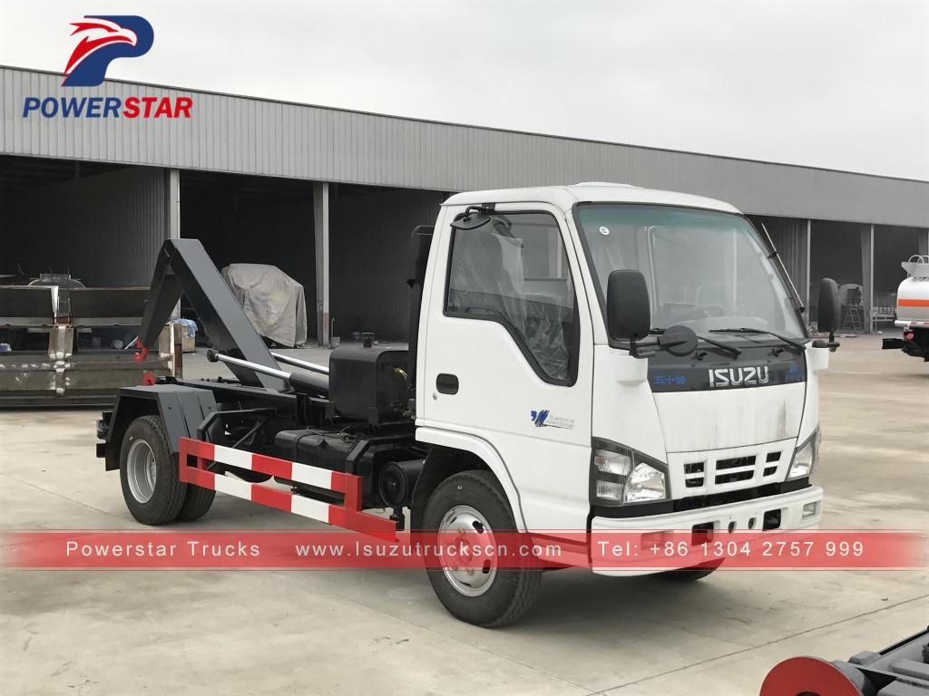 New Style Isuzu Arm Roll Garbage Truck With Hook Lift System,Isuzu ...