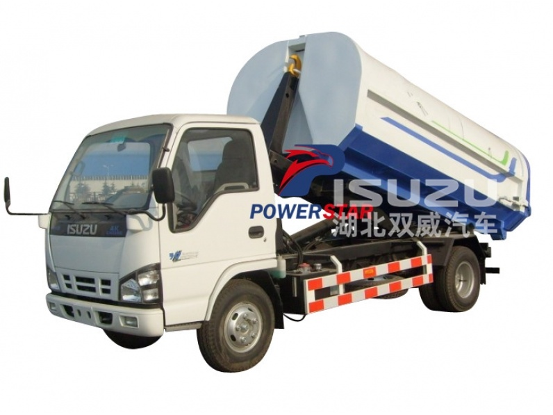 4*2 Japan brand Isuzu hook lift garbage truck for sale