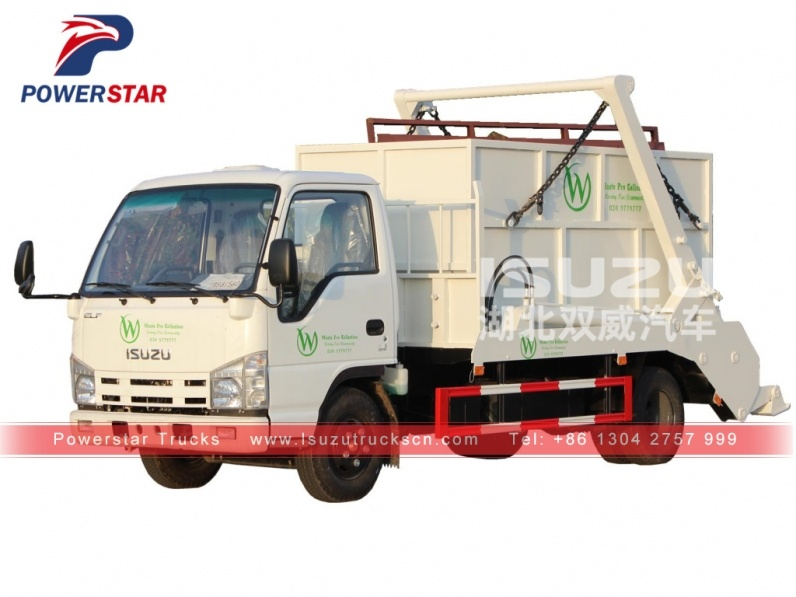 skip loader truck Isuzu arm roll container refuse truck
