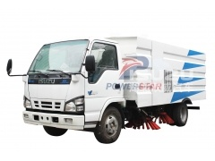 Isuzu truck mounted road sweeper vehicle
