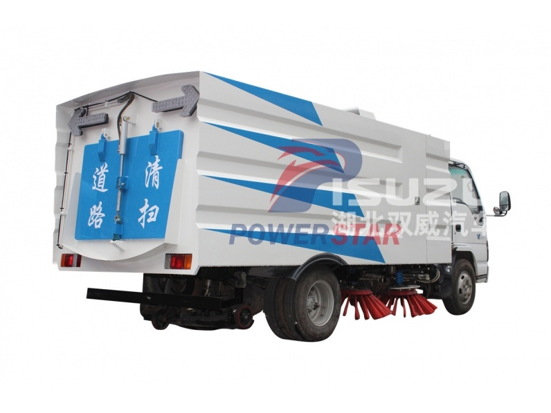 4CBM mini street cleaning vacuum road sweeper truck for sale