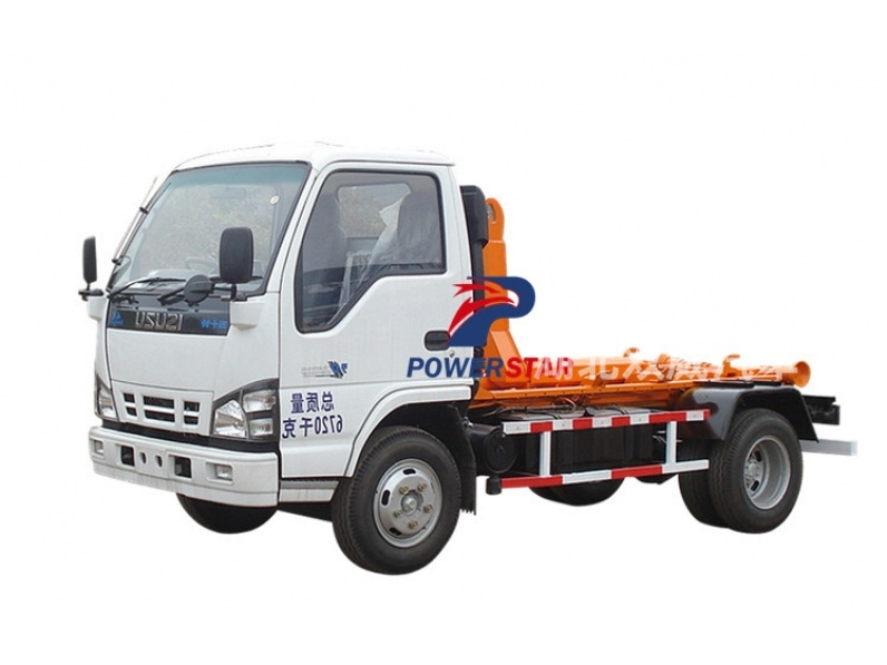 Japan hooklift garbage truck