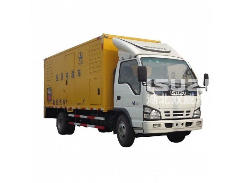 High quality ISUZU 4x2 Mobile emergency power supply truck for sale