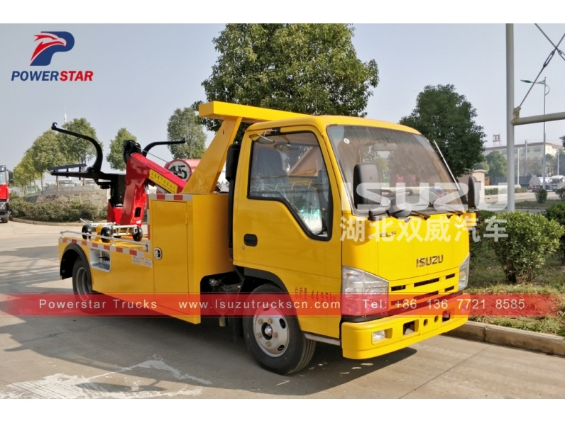 Cambodia road rescue recovery vehicles Isuzu wrecker tow trucks