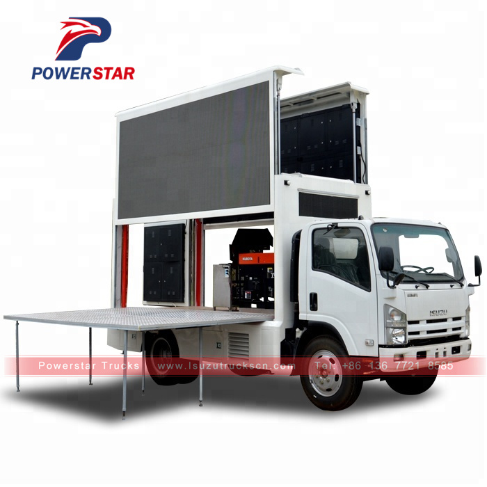 Hot Selling ISUZU ELF Mobile LED Screen Outdoor Advertising
