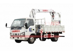 Philppines Straight Arm Isuzu Truck Mounted Crane