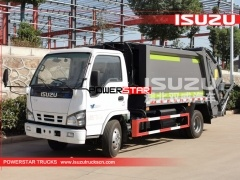 Japan Rear Load Garbage Trucks Isuzu Hydraulic Garbage Compactor Trucks