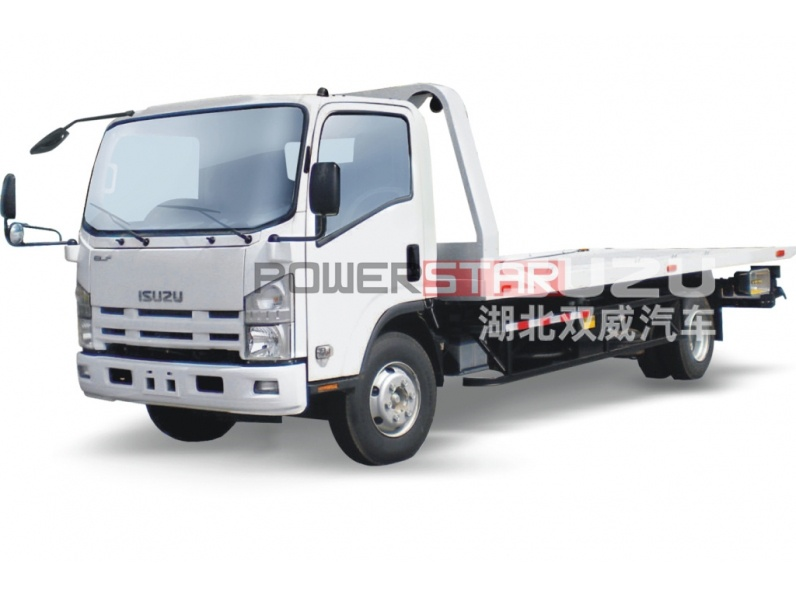 ISUZU 700P ELF Recovery Wrecker truck Flatbed carrier with crane
