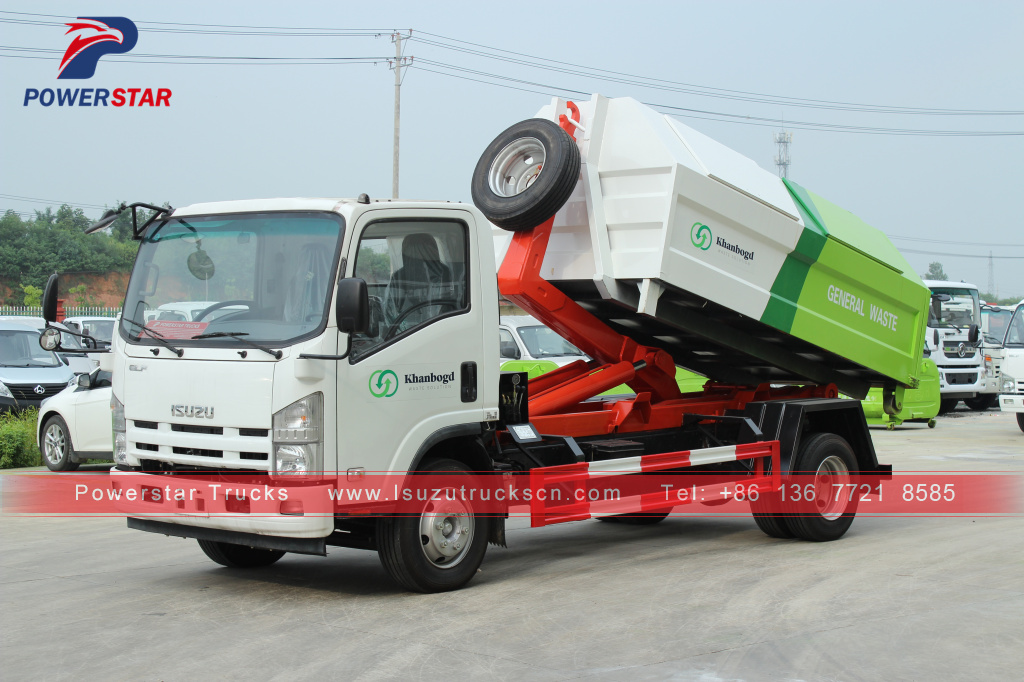 Mongolia Hooklift Garbage Truck for sale