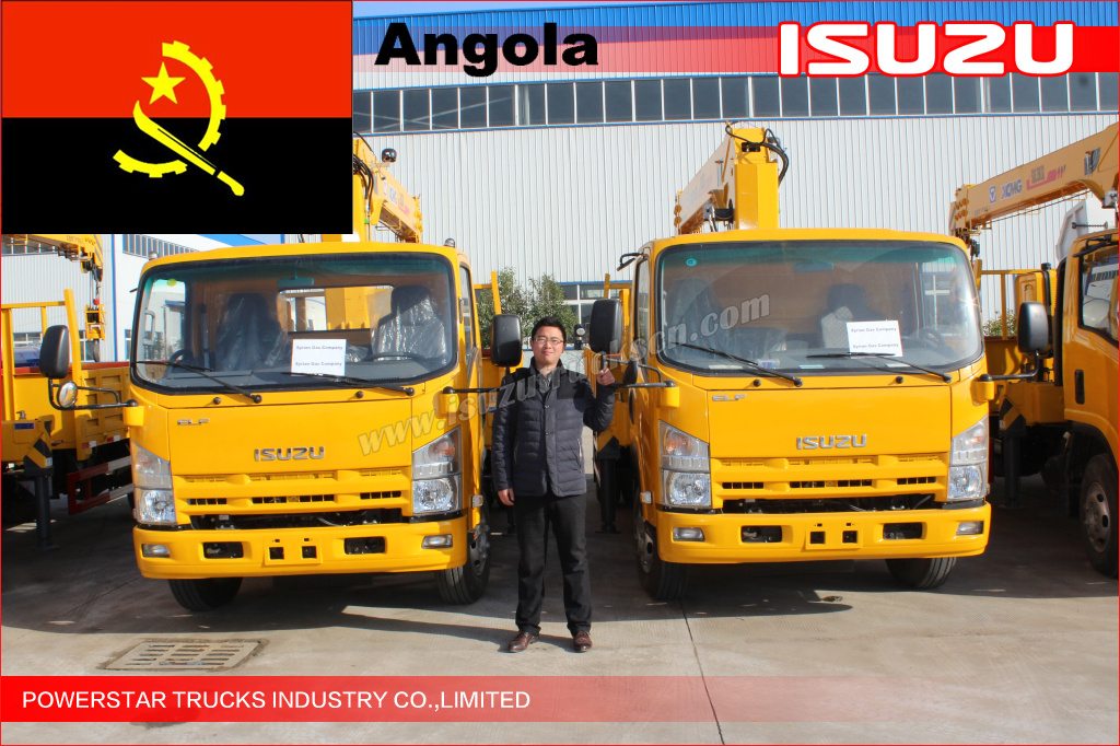 ELF crane truck Delivery to Angola