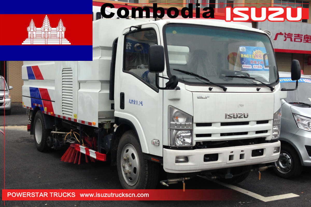 Combodia - 1 Unit Isuzu Street Washer Sweeper