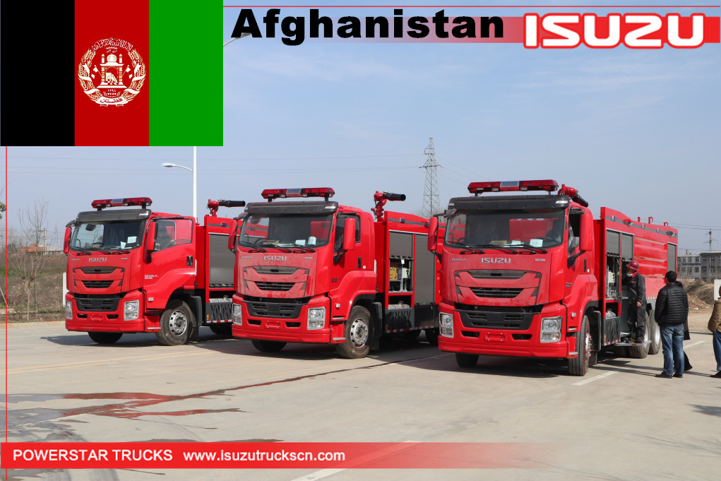 Afghanistan- 3 units GIGA Isuzu Fire Trucks