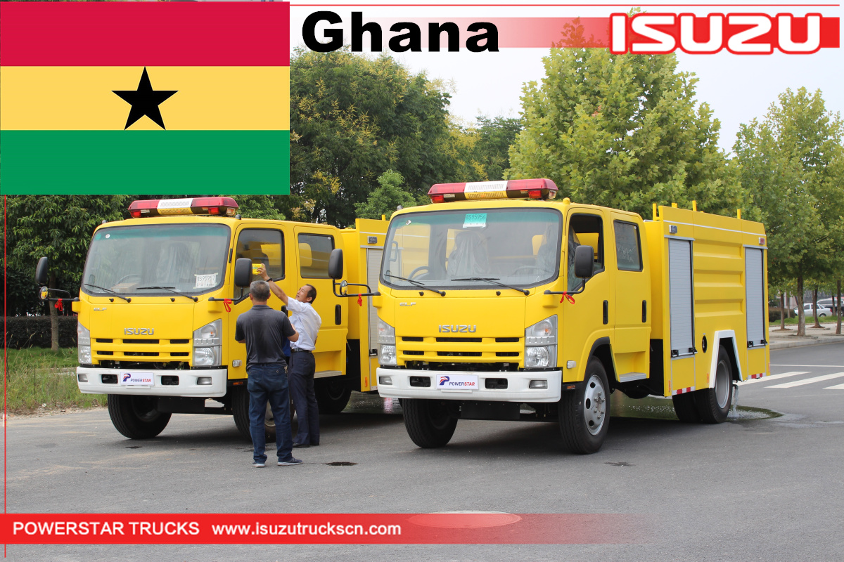 Ghana - 2 Units ISUZU Water Fire Fighting Truck