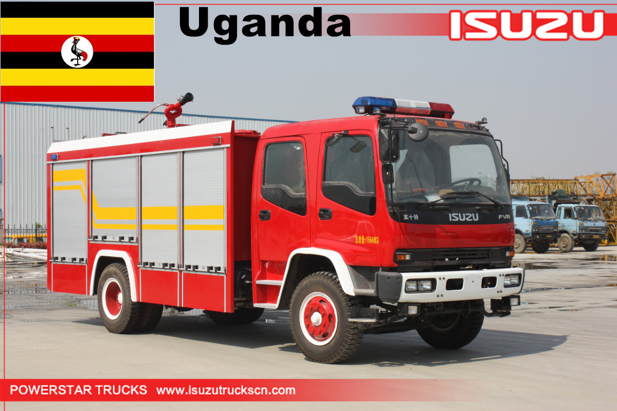 Uganda- 1 Unit of Isuzu Foam Water Fire truck