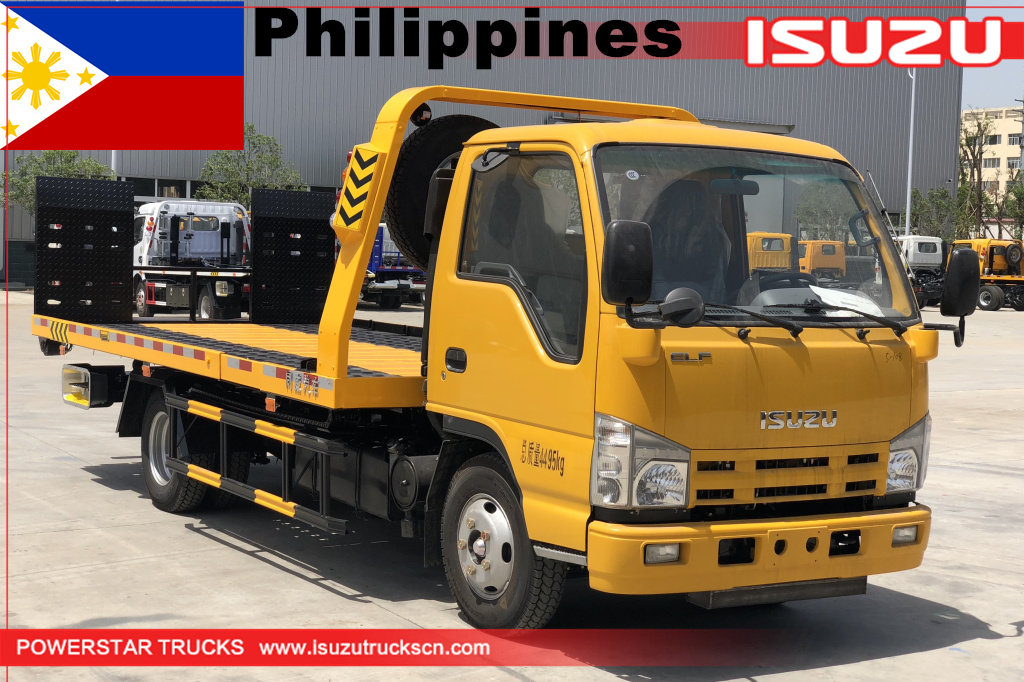 Philippines CEBU - 1 unit ISUZU Flatbed carrier wrecker