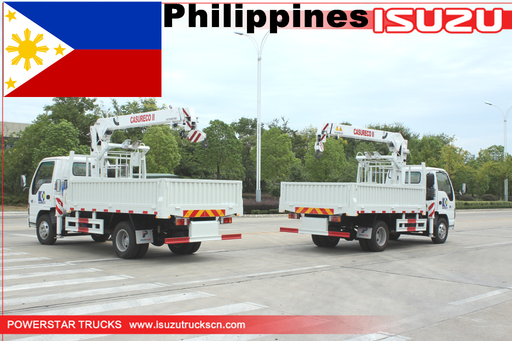 Philippines - 2 units ISUZU Manlifter with Basket Crane