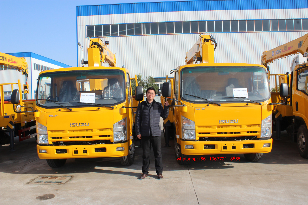 ISUZU ELF Truck with 6.3ton crane for Africa