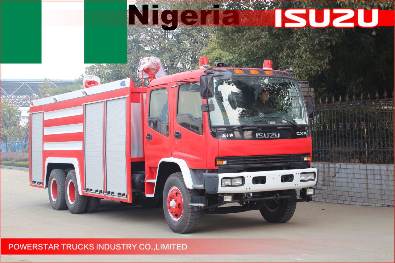 3untis Heavy Isuzu Foam Fire truck for Nigeria