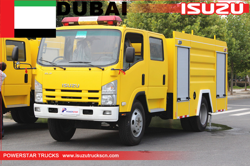 Isuzu chassis fire truck for Dubai