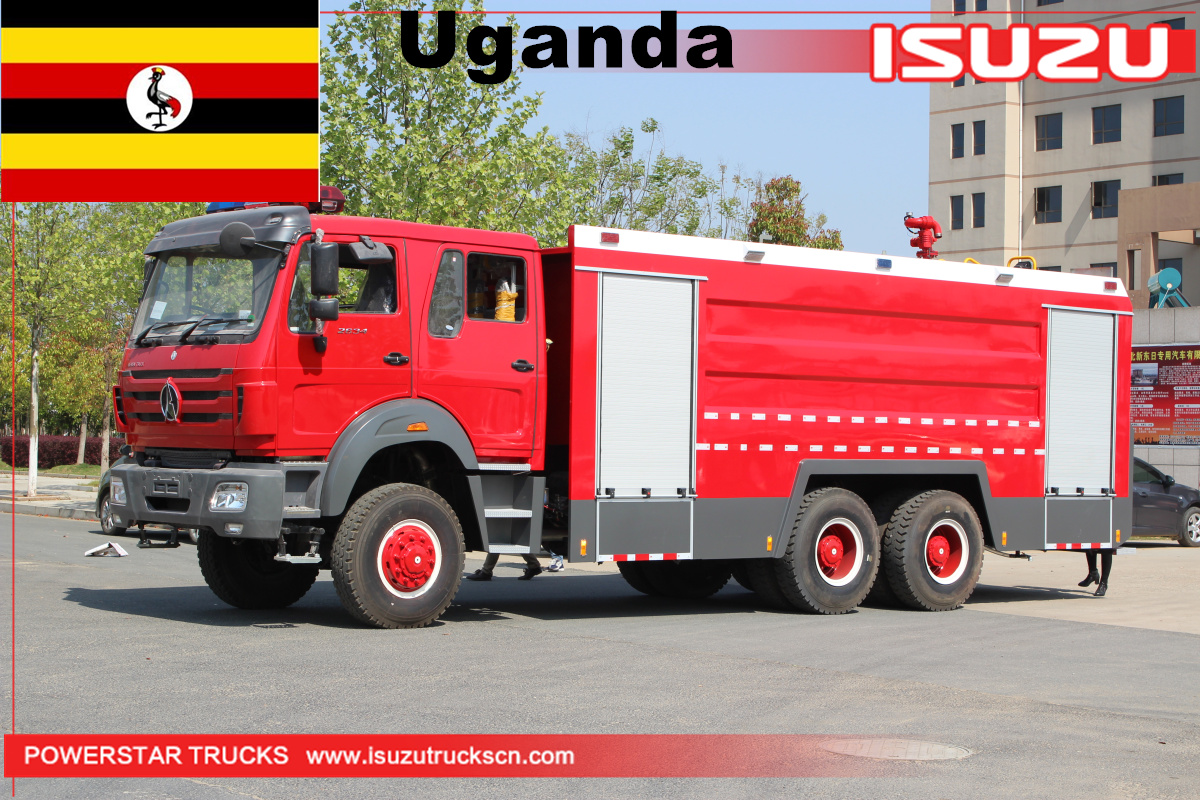 Uganda - 1 Unit of Beiben Water Foam Fire trucks
