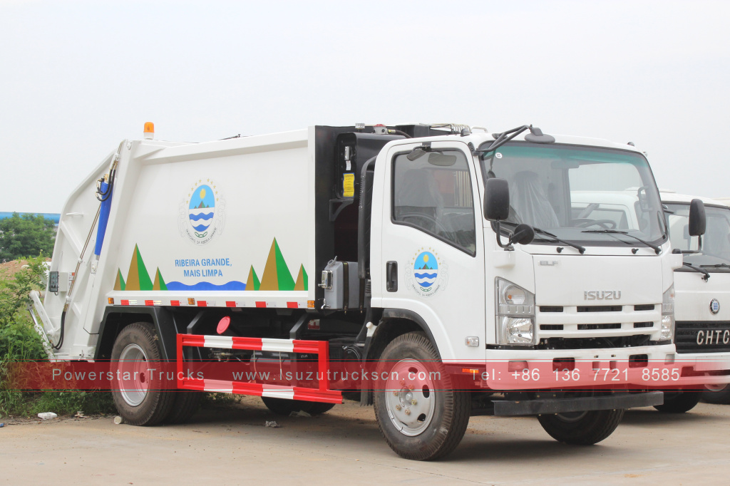 Philippines 8cbm Rear loaded garbage truck Isuzu for sale