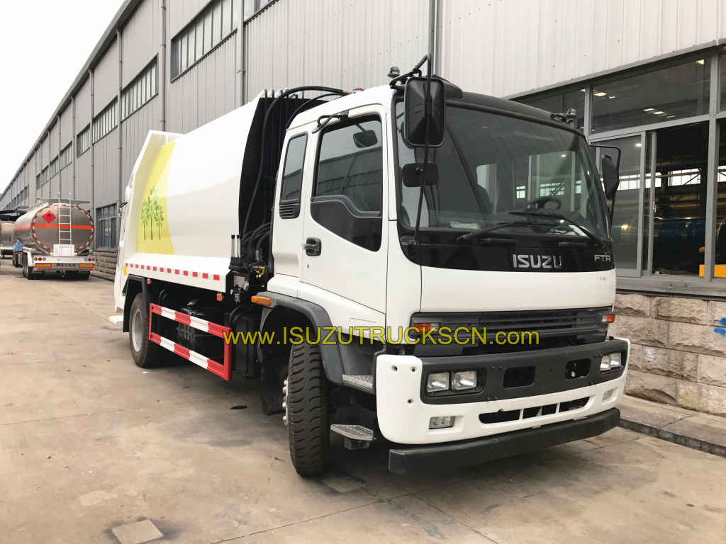 12cbm FTR ISUZU garbage compactor truck for export