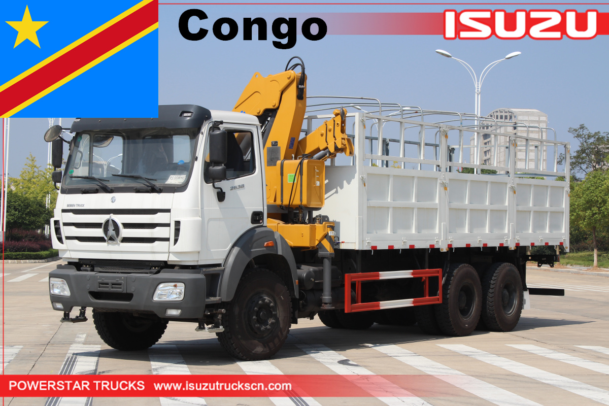 Congo - 1 Unit of Beiben Lorry Truck with XCMG crane