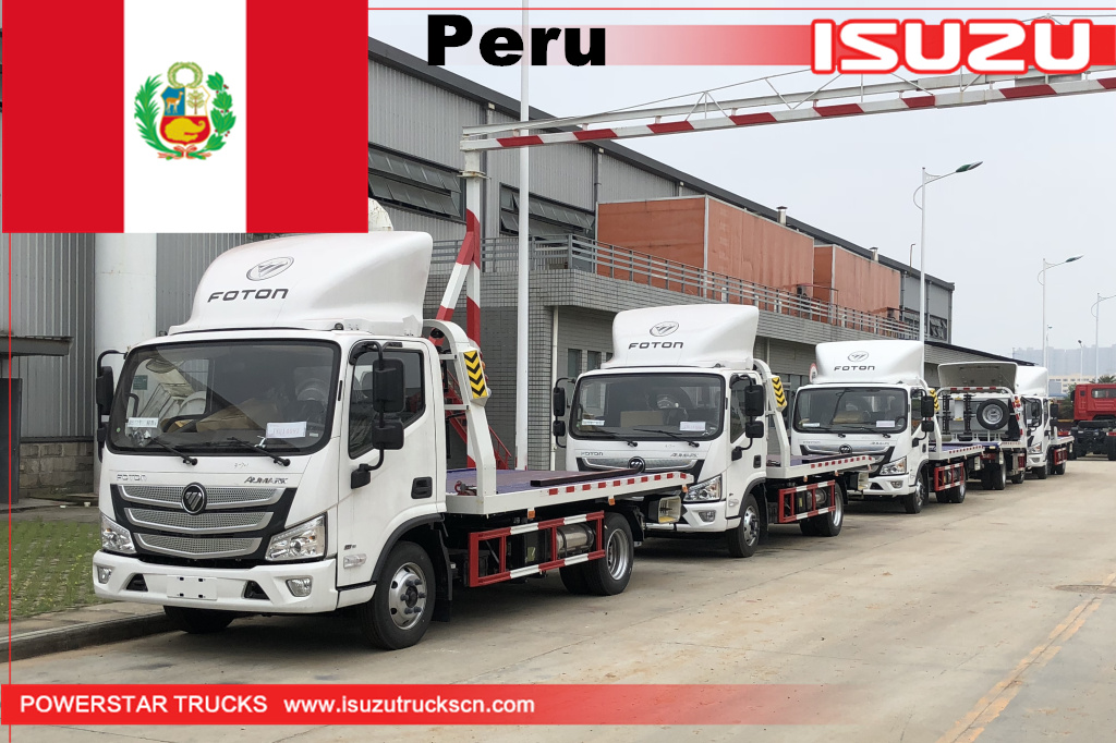 Peru - 5 units FOTON Wrecker Truck