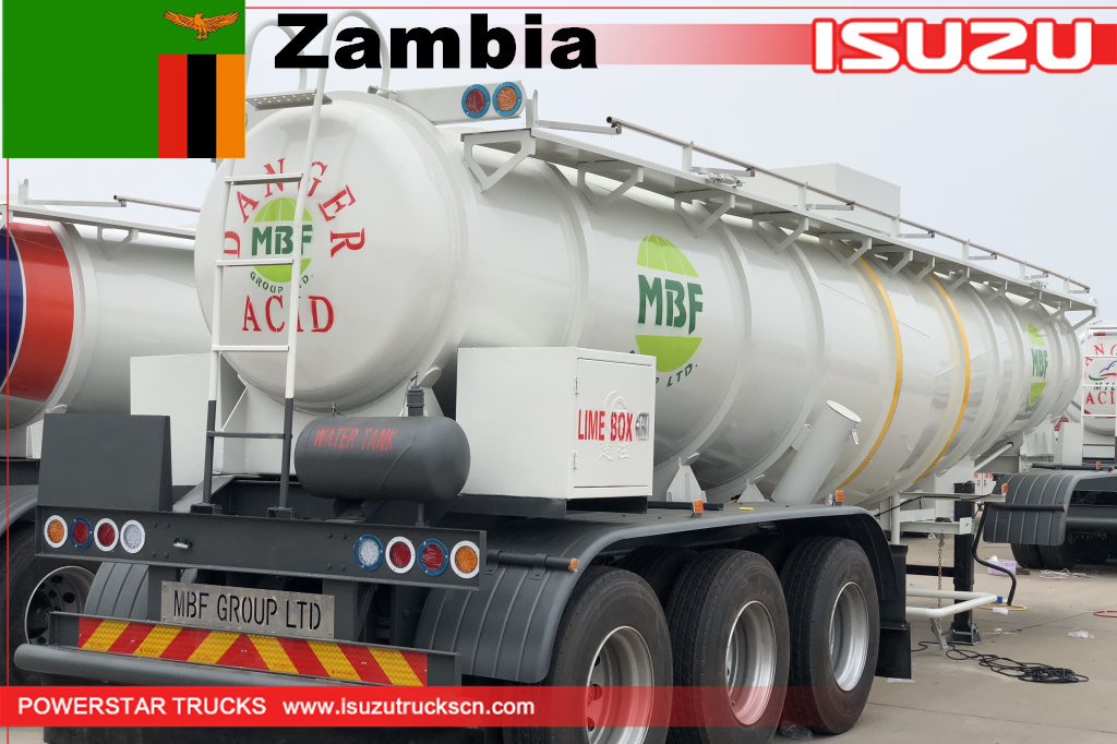 Zambia MBF Group - 8 units of Acid Tank Trailer
