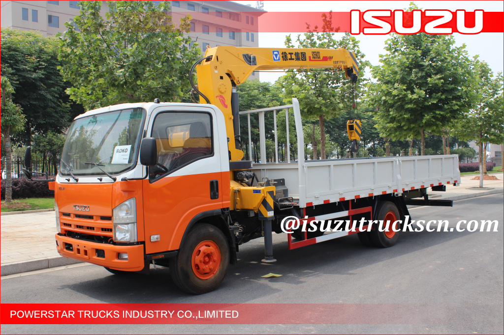 ELF ISUZU 5Ton Crane Truck for ROKO construction