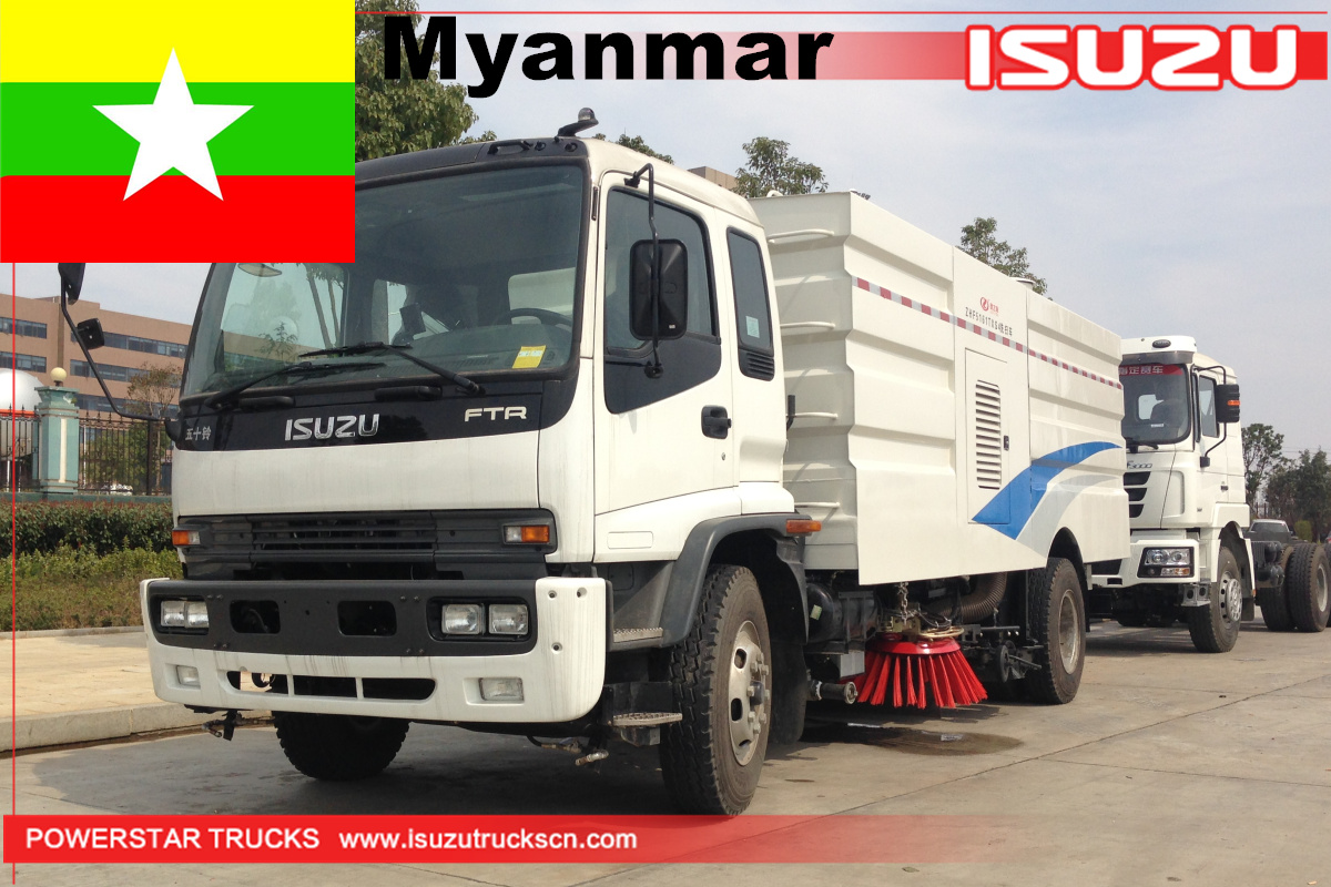 Myanmar - 1 Unit ISUZU FTR Street Sweeper and Washer