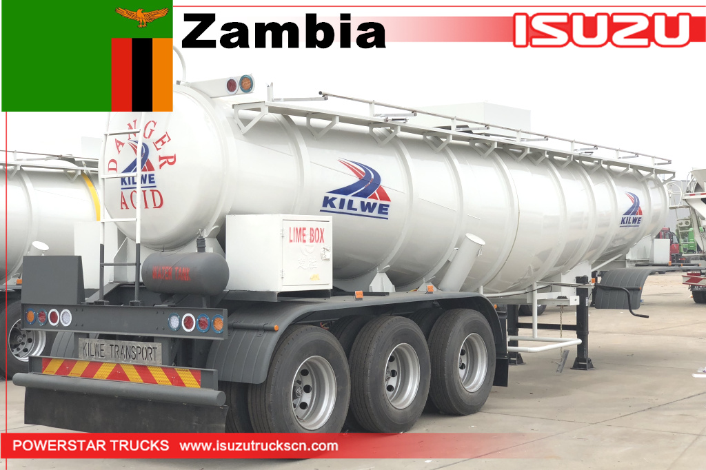 Zambia Kilwe - 12 units of Acetic Acid Tanker Trailer