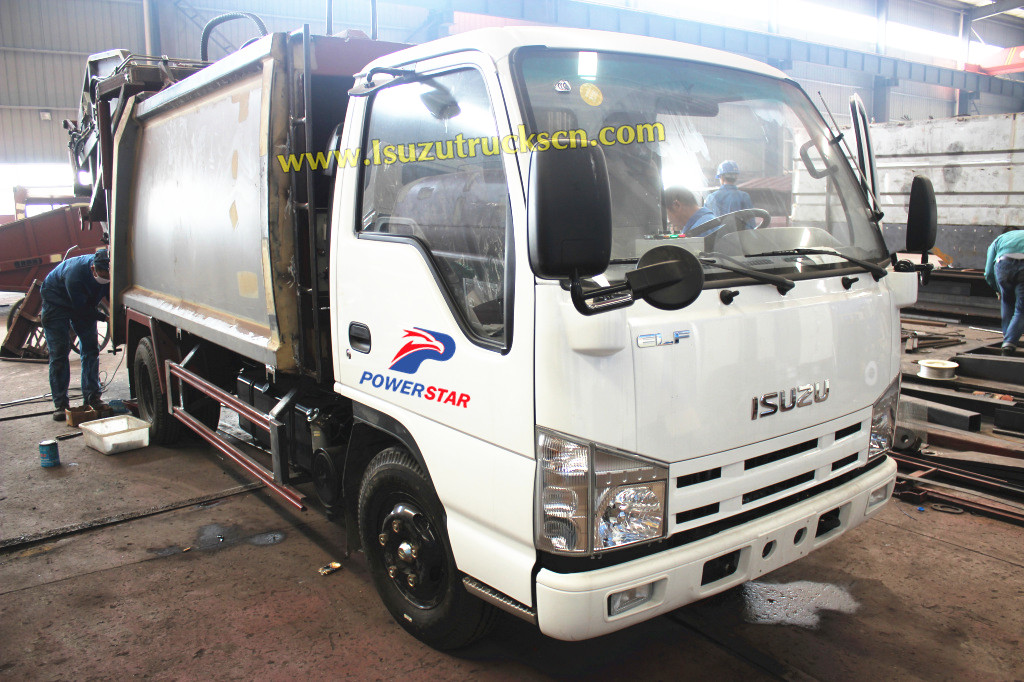Official Isuzu refuse compactor truck with 4JB1CN 98HP