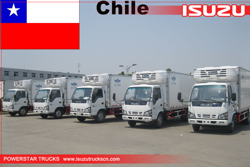 Chile - 6 Units Isuzu Refrigerated Van Trucks