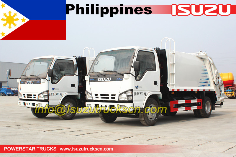Manila City Compressd Garbage Truck Isuzu 3tons