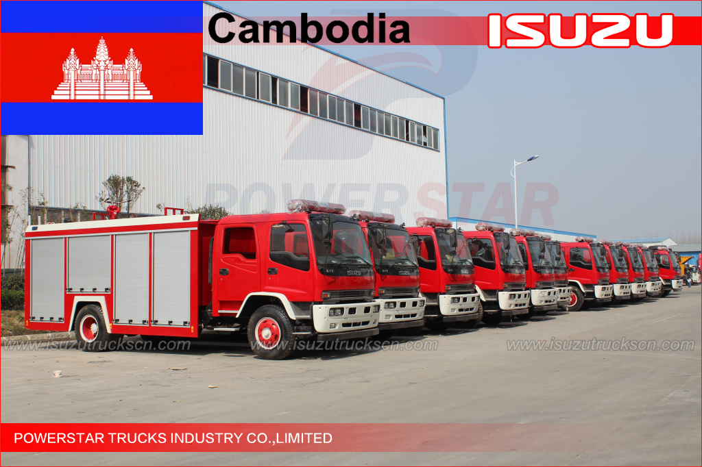 120 units FTR Water Fire Truck for Cambodia