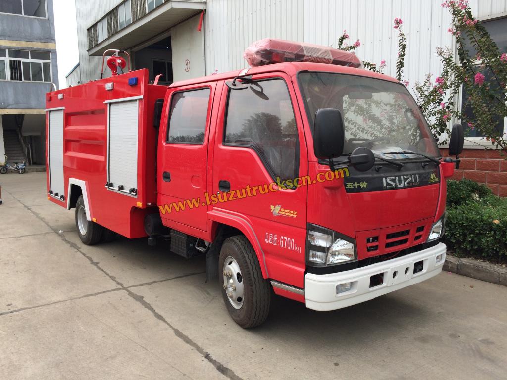 Isuzu Foam Water Fire Fighting Truck Working Video