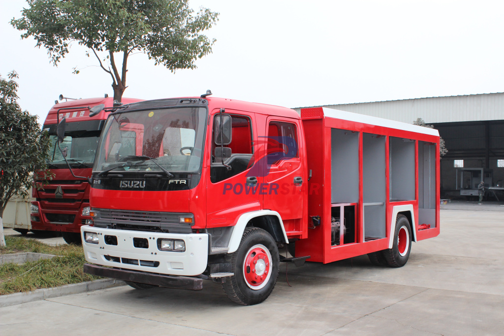 How to build quality Foam Fire ruck with ISUZU FTR truck chassis?