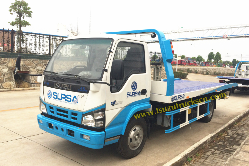 ISUZU NKR chassis Flatbed tow trucks for Sierra Lenoe Road Safety Authority